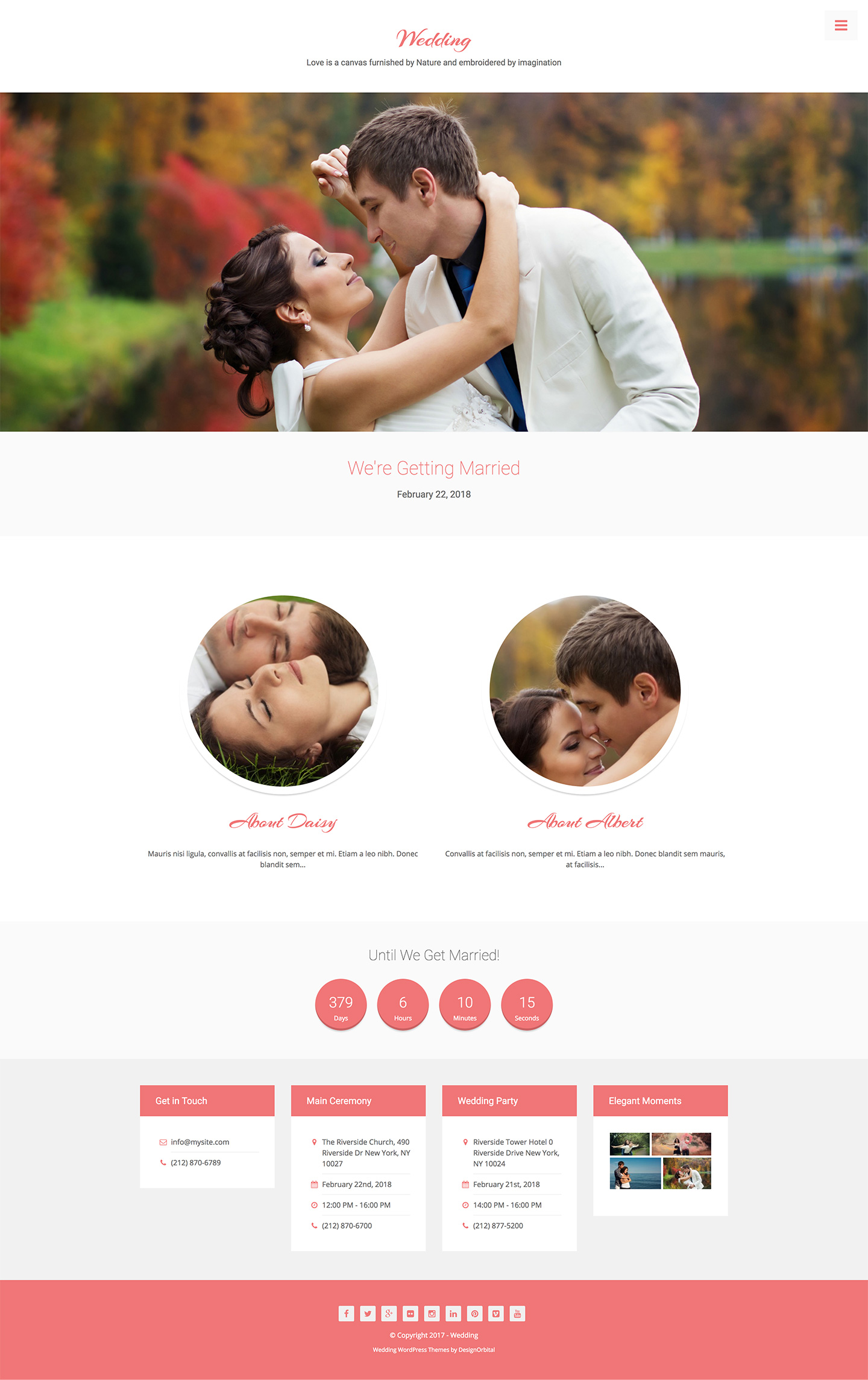 Wedding - Gorgeous Feminine Wordpress Theme - DesignOrbital